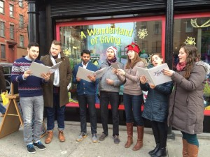 NYC Holiday carolers on the streets of New York!