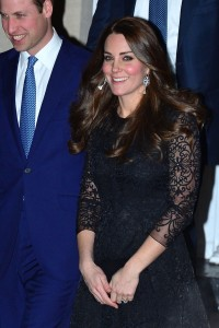 AS snapped by Women's Wear Daily Kate Middleton in Black Lace for her first night out in NYC 12/2014 visit!