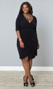 A black wrap dress is awesome choice to look fabulous at the office and a party after work!