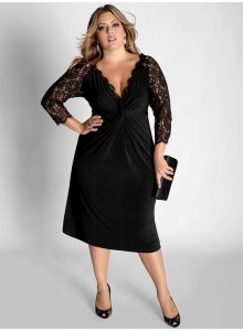A stylish black dress is a great choice for Easter Sunday!