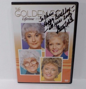 Lifetime Intimate Portraits Golden Girls  DVD Signed by Betty White!