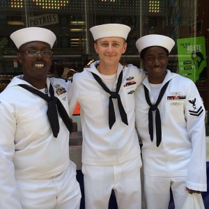 Sailors in NYC mean it's Fleet Week!