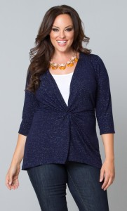 Perfect blue sweater for Fall layering!