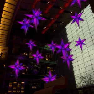 Stars in Lobby of Time Warner Building NYC.