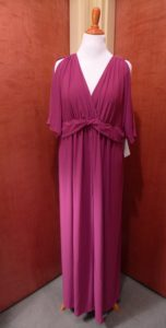 Make An Entrance In This Pink Cold Shoulder Maxi!
